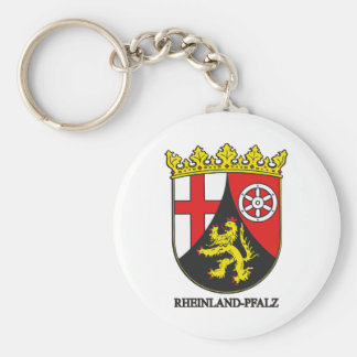 Rheinland-Pfalz (Rhineland-Palatinate) COA Basic Round Button Keychain