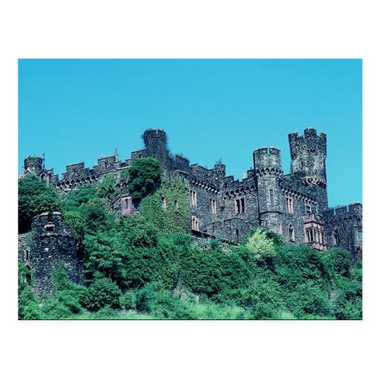 Rheinstein Castle, Rhine River, Germany Postcard