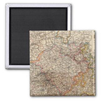 Rhenish Prussia, Westphalia, HesseNassau 2 Inch Square Magnet