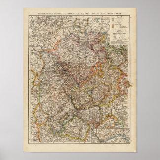 Rhenish Prussia, Westphalia, HesseNassau Poster