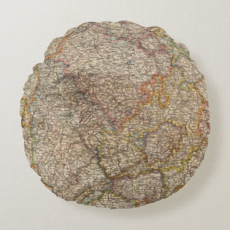 Rhenish Prussia, Westphalia, HesseNassau Round Pillow