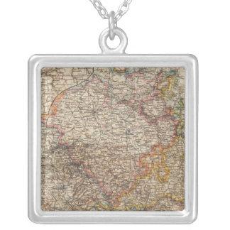 Rhenish Prussia, Westphalia, HesseNassau Square Pendant Necklace