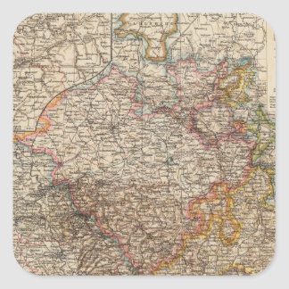 Rhenish Prussia, Westphalia, HesseNassau Square Sticker