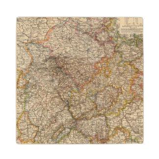 Rhenish Prussia, Westphalia, HesseNassau Wood Coaster
