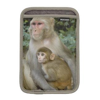 Rhesus Macaques Macaca mulatta) mother & baby Sleeve For iPad Mini