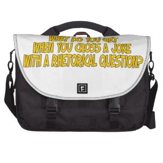 Rhetorical joke laptop bag