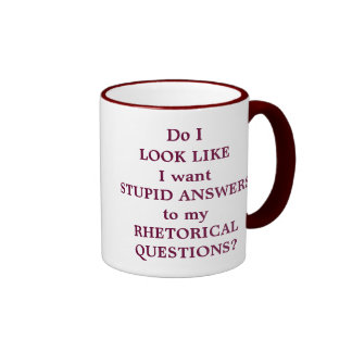 Rhetorical Questions Ringer Coffee Mug