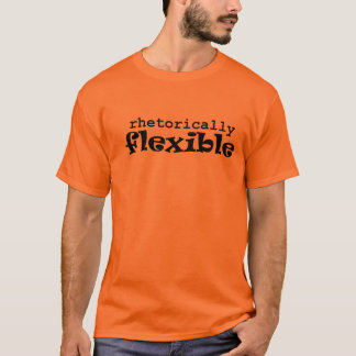 Rhetorically Flexible Black on White (men's) T-Shirt