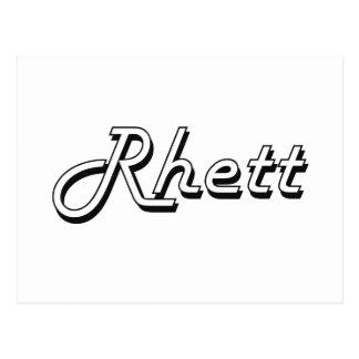 Rhett Classic Retro Name Design Postcard