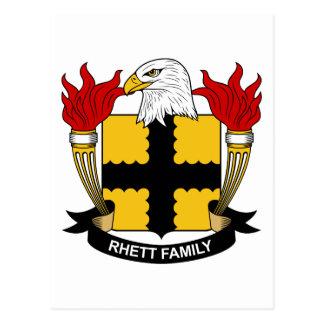 Rhett Family Crest Postcard