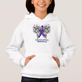 Rheumatoid Arthritis Awareness Butterfly Hoodie