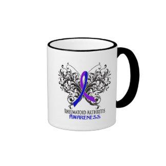 Rheumatoid Arthritis Awareness Butterfly Mugs