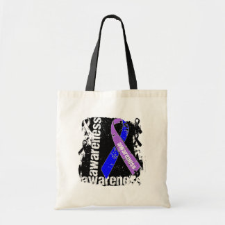 Rheumatoid Arthritis Awareness Grunge Ribbon Bag