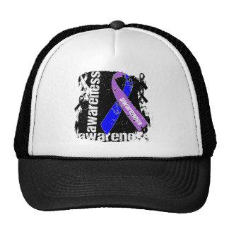 Rheumatoid Arthritis Awareness Grunge Ribbon Hat
