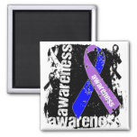 Rheumatoid Arthritis Awareness Grunge Ribbon Magnets