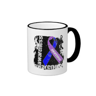 Rheumatoid Arthritis Awareness Grunge Ribbon Mugs