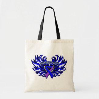 Rheumatoid Arthritis Awareness Heart Wings Canvas Bag