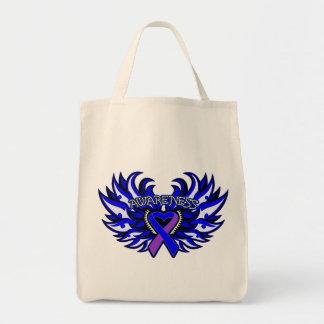 Rheumatoid Arthritis Awareness Heart Wings Bag