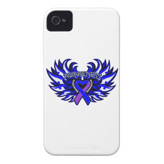 Rheumatoid Arthritis Awareness Heart Wings Case-Mate iPhone 4 Cases