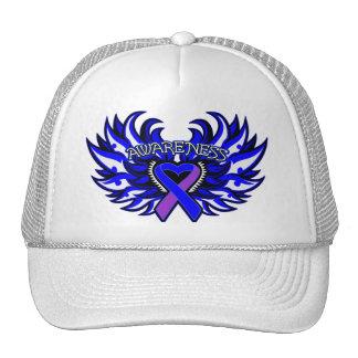 Rheumatoid Arthritis Awareness Heart Wings Hats