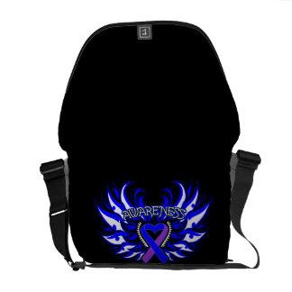 Rheumatoid Arthritis Awareness Heart Wings Courier Bag