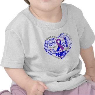 Rheumatoid Arthritis Awareness Heart Words T-shirt