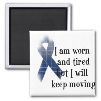 Rheumatoid Arthritis Awareness :: I am worn and... 2 Inch Square Magnet