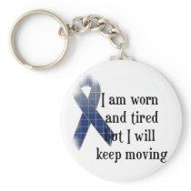 Rheumatoid Arthritis Awareness :: I am worn and... Keychain