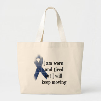 Rheumatoid Arthritis Awareness :: I am worn and... Large Tote Bag