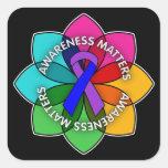 Rheumatoid Arthritis Awareness Matters Petals Square Sticker