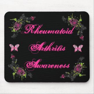 Rheumatoid Arthritis Awareness Mousepad Butterfly