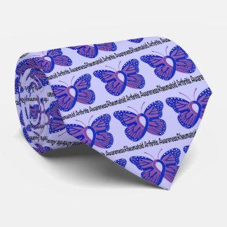 Rheumatoid Arthritis Butterfly Awareness Ribbon Tie