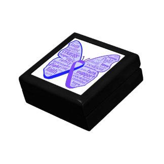Rheumatoid Arthritis Butterfly Ribbon Trinket Boxes