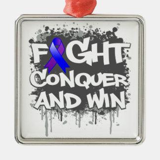 Rheumatoid Arthritis Fight Conquer and Win Ornaments