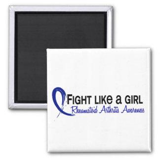 Rheumatoid Arthritis Fight Like A Girl 6.3 Fridge Magnet