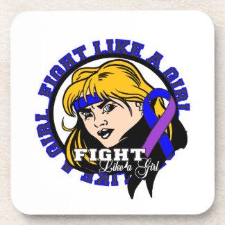 Rheumatoid Arthritis Fight Like A Girl Attitude Drink Coaster