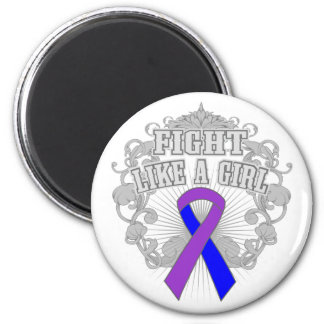 Rheumatoid Arthritis Fight Like A Girl Fleurish 2 Inch Round Magnet