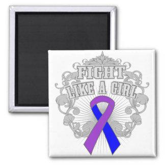 Rheumatoid Arthritis Fight Like A Girl Fleurish 2 Inch Square Magnet