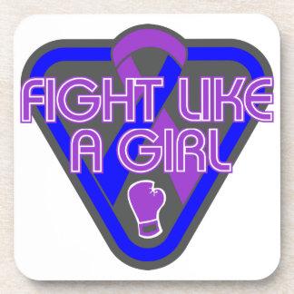 Rheumatoid Arthritis Fight Like A Girl Glove Drink Coasters
