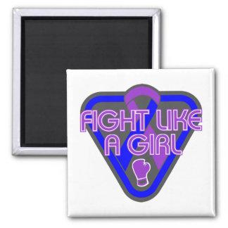 Rheumatoid Arthritis Fight Like A Girl Glove 2 Inch Square Magnet