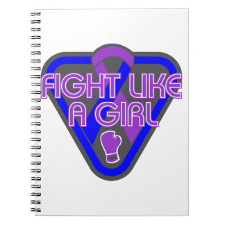 Rheumatoid Arthritis Fight Like A Girl Glove Spiral Notebooks