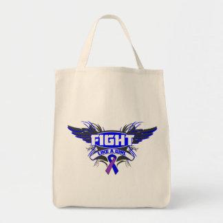 Rheumatoid Arthritis Fight Like a Girl Wings.png Canvas Bag