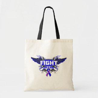 Rheumatoid Arthritis Fight Like a Girl Wings.png Bags