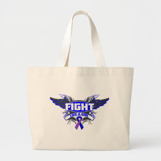 Rheumatoid Arthritis Fight Like a Girl Wings.png Tote Bags