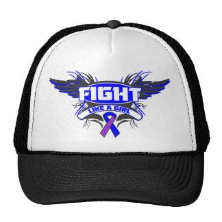 Rheumatoid Arthritis Fight Like a Girl Wings.png Hats