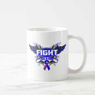 Rheumatoid Arthritis Fight Like a Girl Wings.png Coffee Mugs