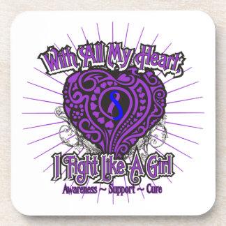 Rheumatoid Arthritis Heart I Fight Like A Girl Beverage Coaster