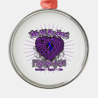 Rheumatoid Arthritis Heart I Fight Like A Girl Christmas Tree Ornaments