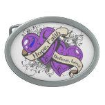 Rheumatoid Arthritis Hope Faith Dual Hearts Oval Belt Buckles