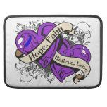 Rheumatoid Arthritis Hope Faith Dual Hearts Sleeve For MacBooks